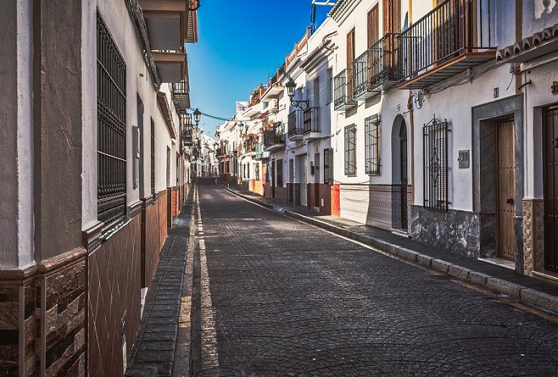 empty street spain